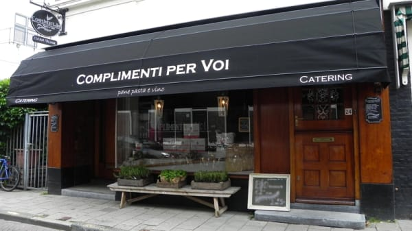 Ingang - Trattoria Complimenti, Haarlem
